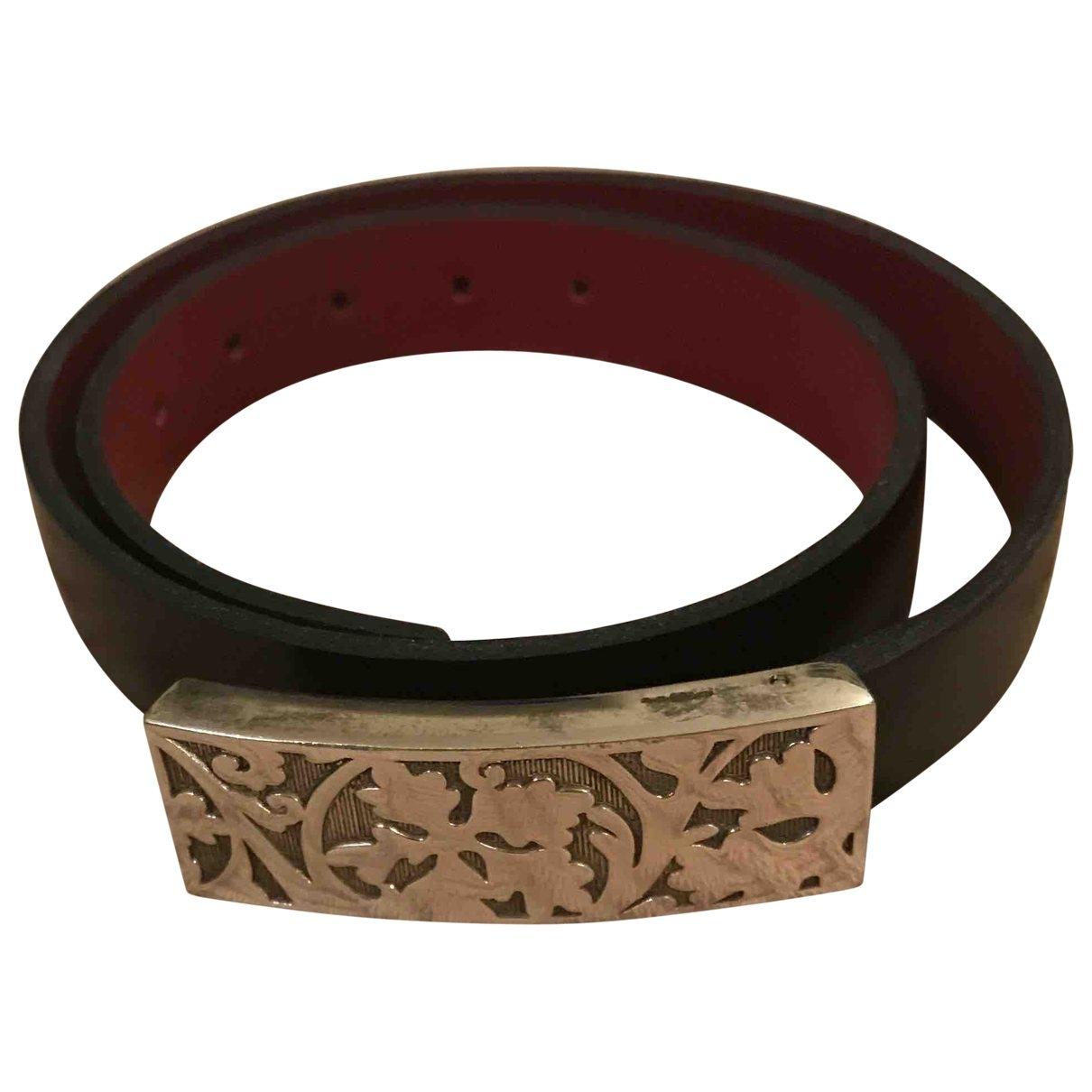 Kenzo - Bracelet   pour femme en cuir - noir