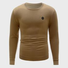 Men Patched Front Sweater