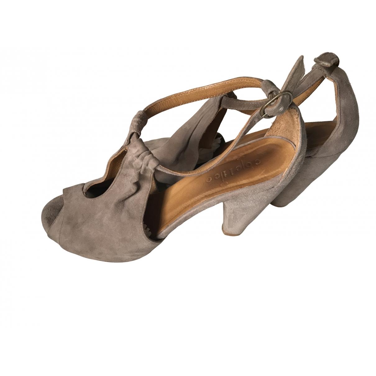 Coclico - Sandales   pour femme en cuir - beige