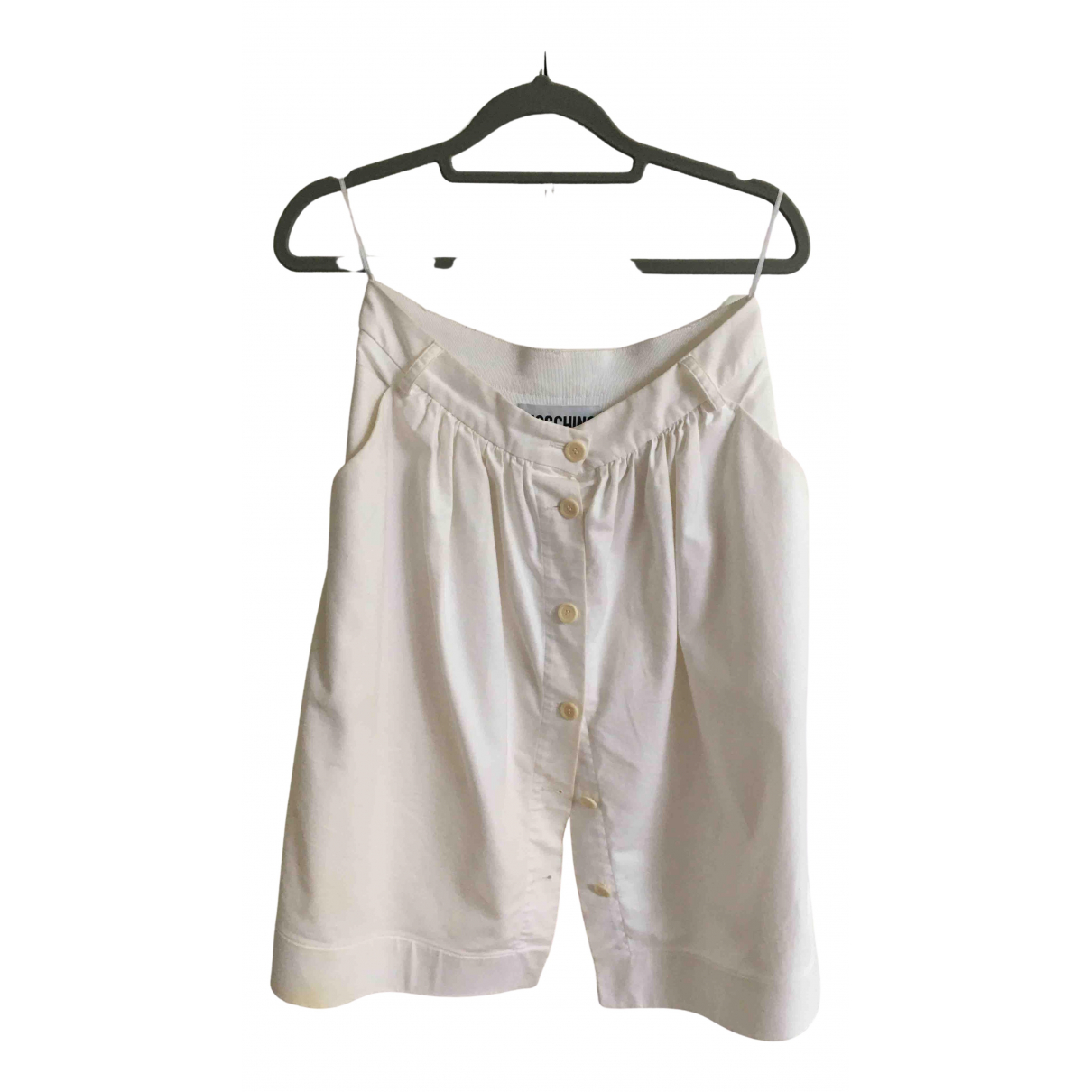 Moschino - Jupe   pour femme en coton - blanc