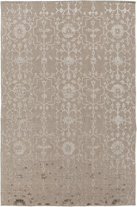 Tidal TDL-1025 6' x 9' Rectangle Traditional Rugs in Taupe