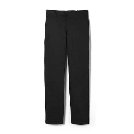 French Toast Double-Knee Big Boys Pleated Flat Front Pant, 20 , Black
