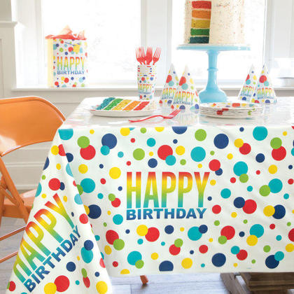 Rainbow Spots Birthday Large Gift Bag For Birthday Party