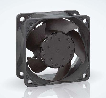 ebm-papst , 12 V dc, DC Axial Fan, 60 x 60 x 25mm, 44m³/h, 1.6W, IP68
