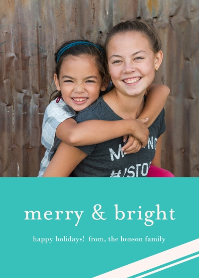 Christmas Photo Cards 5x7 Cards, Standard Cardstock 85lb, Card & Stationery -Merry & Bright Holiday