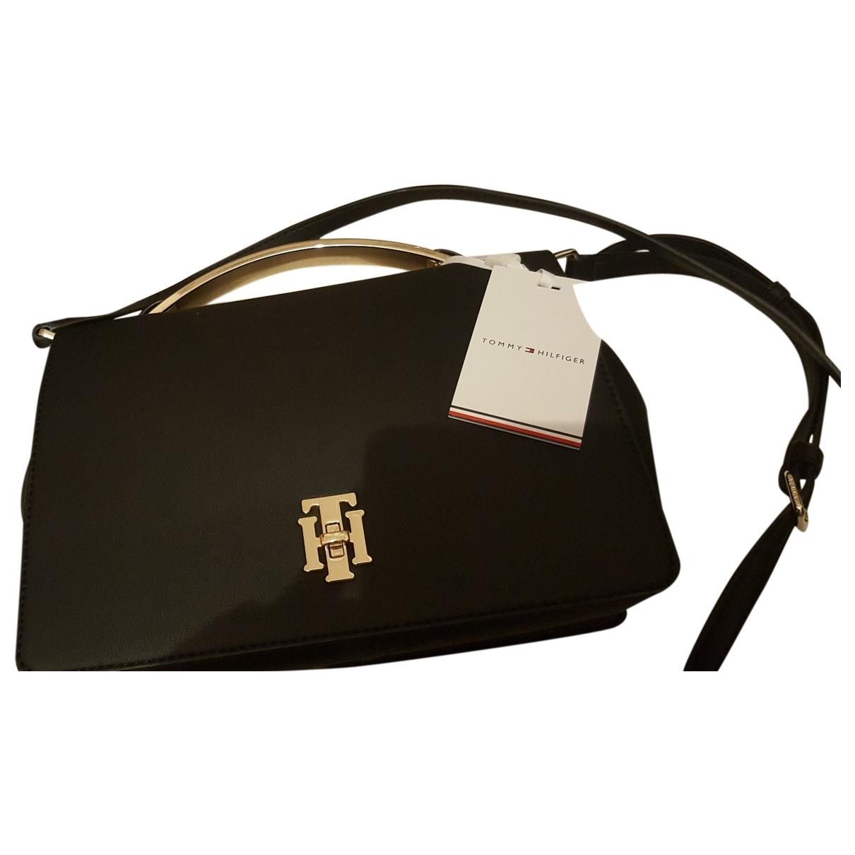 Tommy Hilfiger \N Handtasche in  Schwarz Synthetik