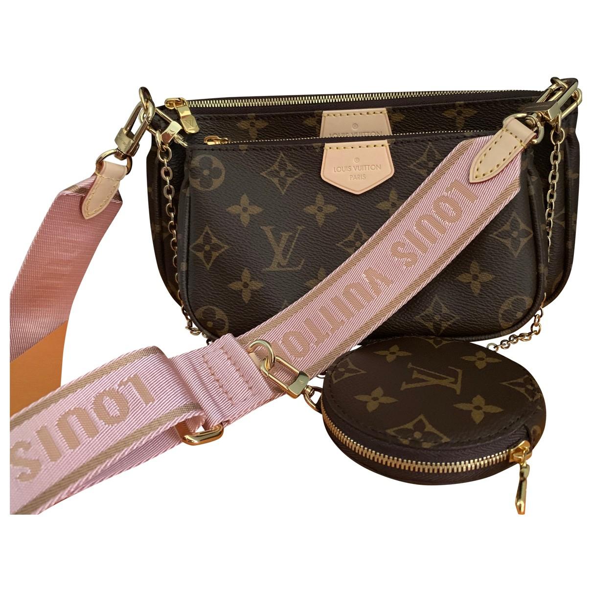 Louis Vuitton - Sac a main Multi Pochette Access pour femme en toile - marron