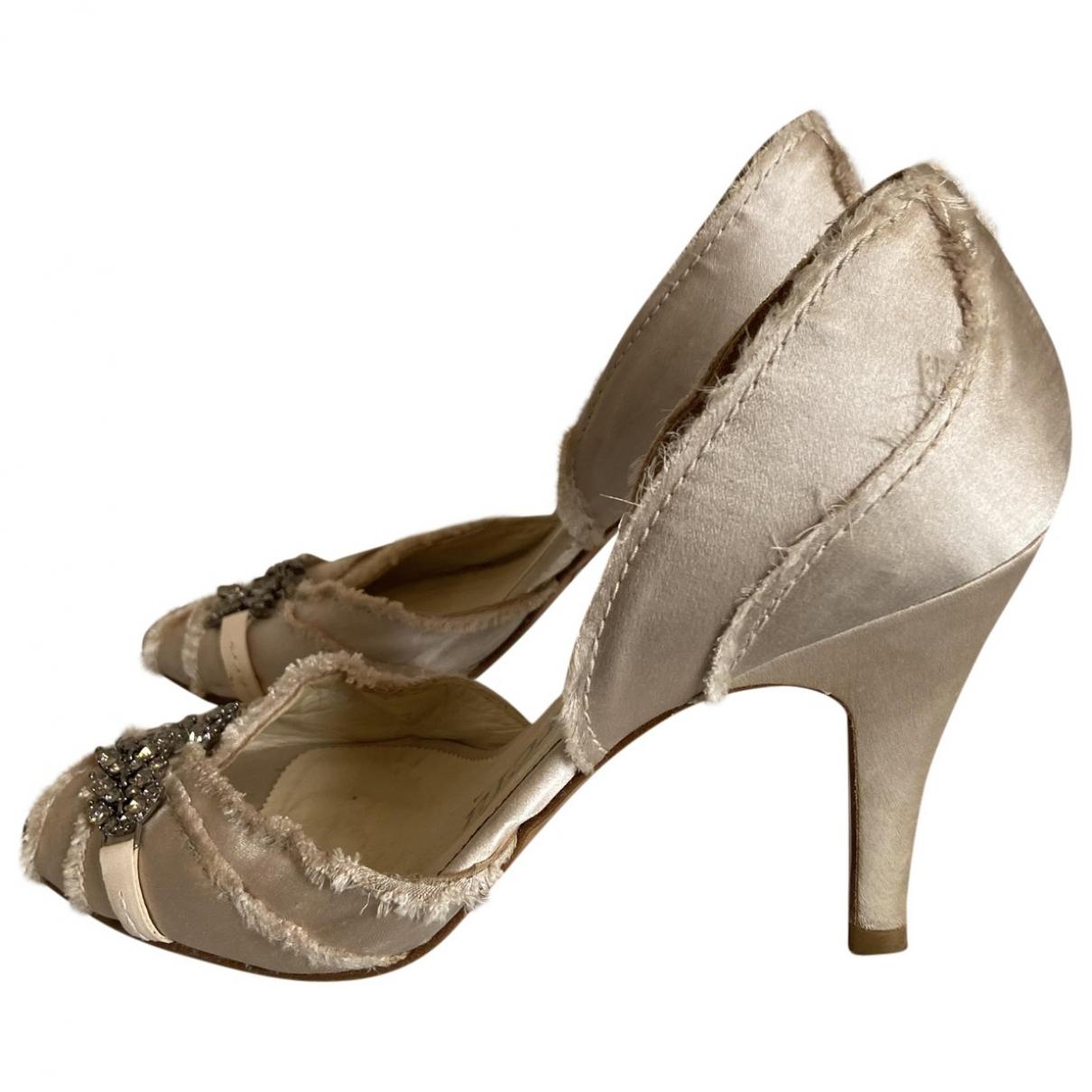 Pedro Garcia \N Beige Glitter Sandals for Women 37 EU