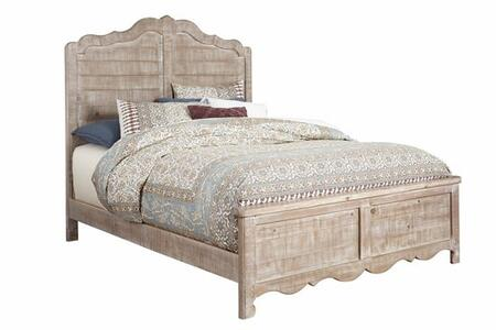 Chatsworth B643-34/35/78 Queen Panel Bed with Scalloped Base Molding  Horizontal Solid Wood Planking and Solid Pine Construction in