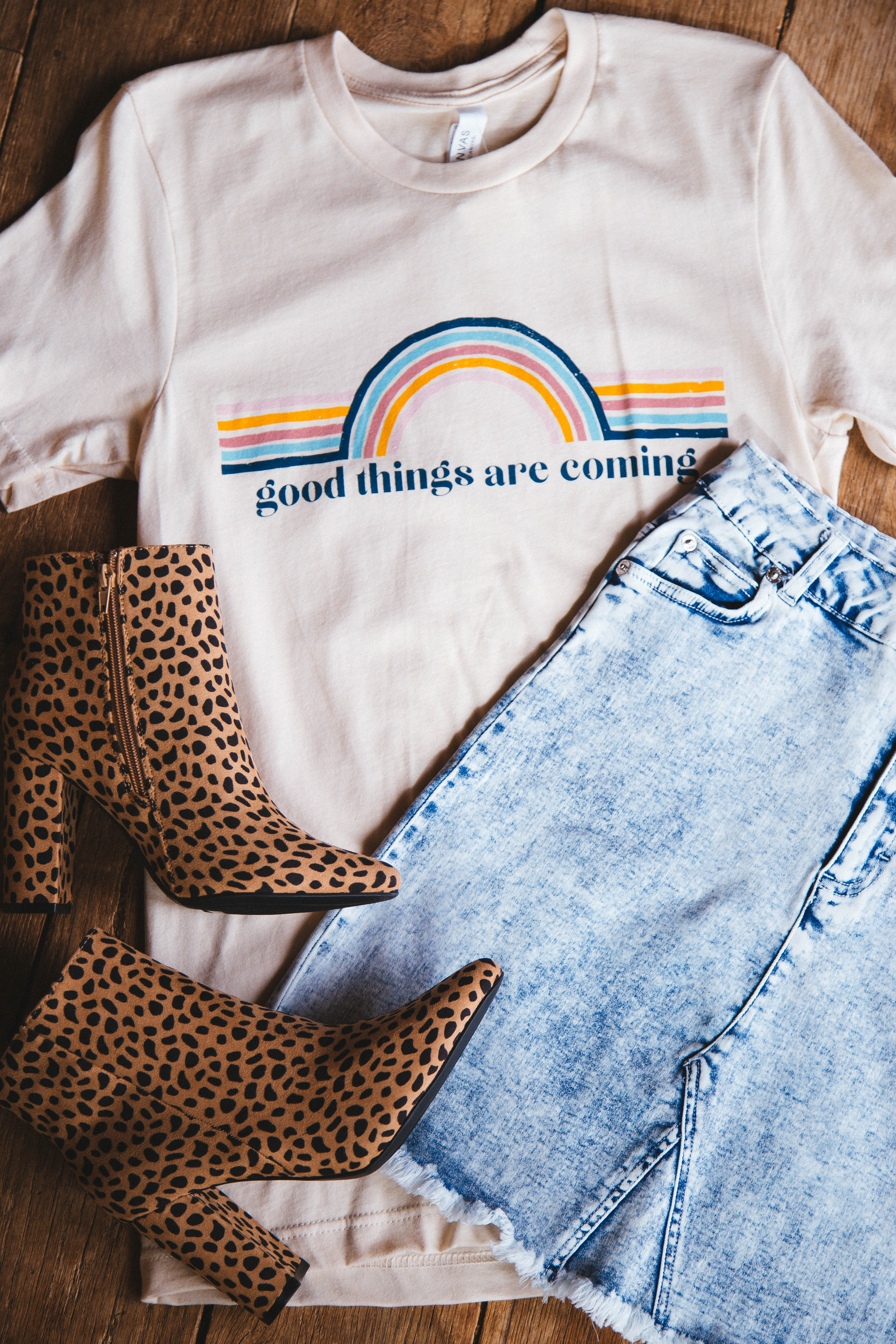 Good Things Are Coming Graphic Tee Soft Cream