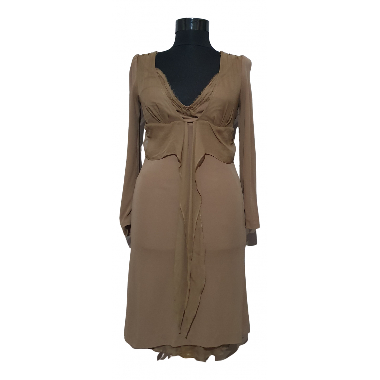 Ermanno Scervino N Brown dress for Women 42 IT