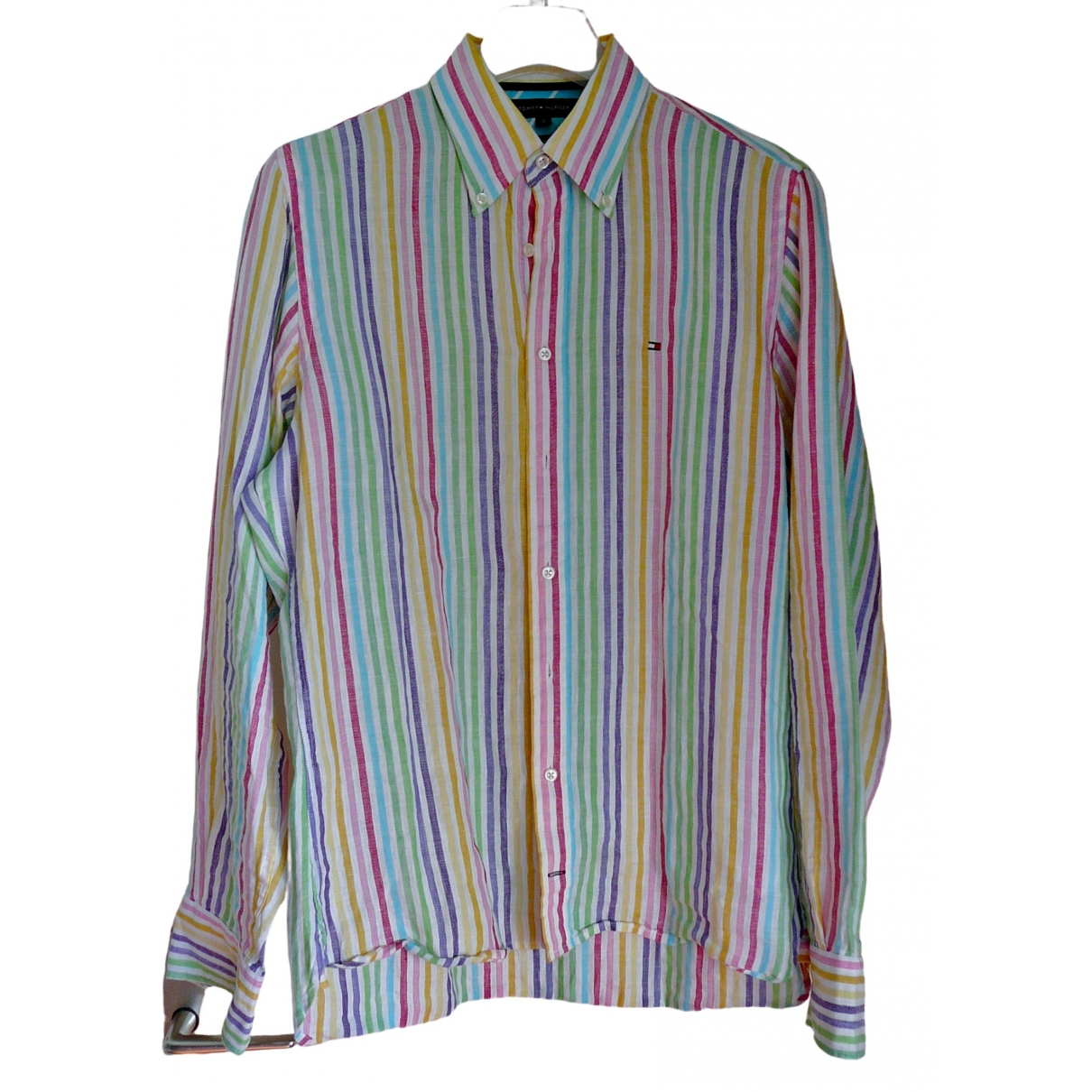 Tommy Hilfiger \N Multicolour Linen Shirts for Men S International