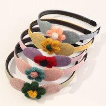 5 Stuecke Kleinkind Maedchen Haarreif mit Blumen Dekor