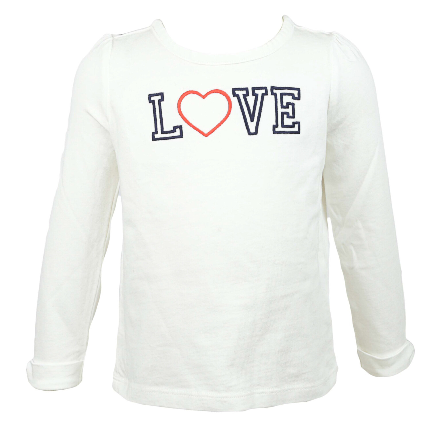 Janie And Jack White Embroidered Love Tee Long-sleeve - 2T