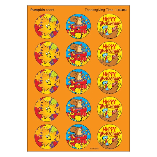 Trend Enterprises® Thanksgiving Stinky Stickers®, 12 Packs Of 60 | Michaels®