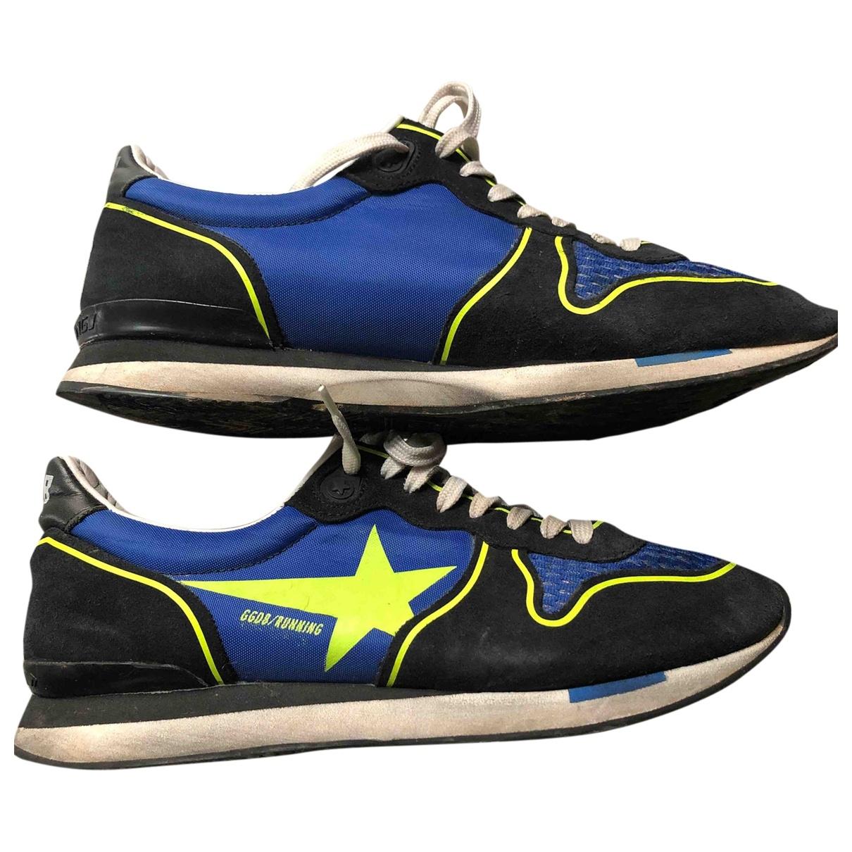 Golden Goose - Baskets Running pour femme en toile - bleu