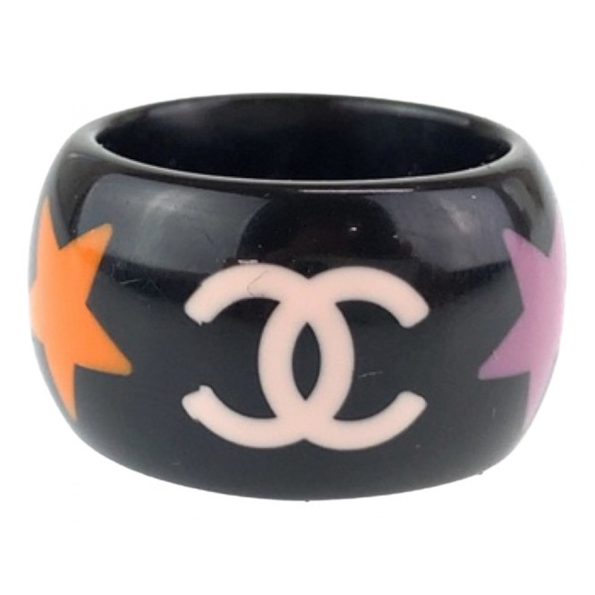 Chanel CC Ring in  Bunt Kunststoff