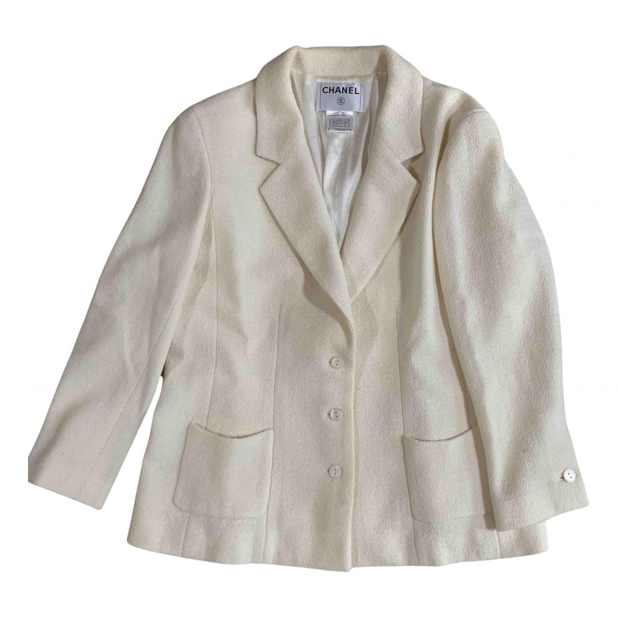 Chanel N Beige Wool jacket for Women 46 FR