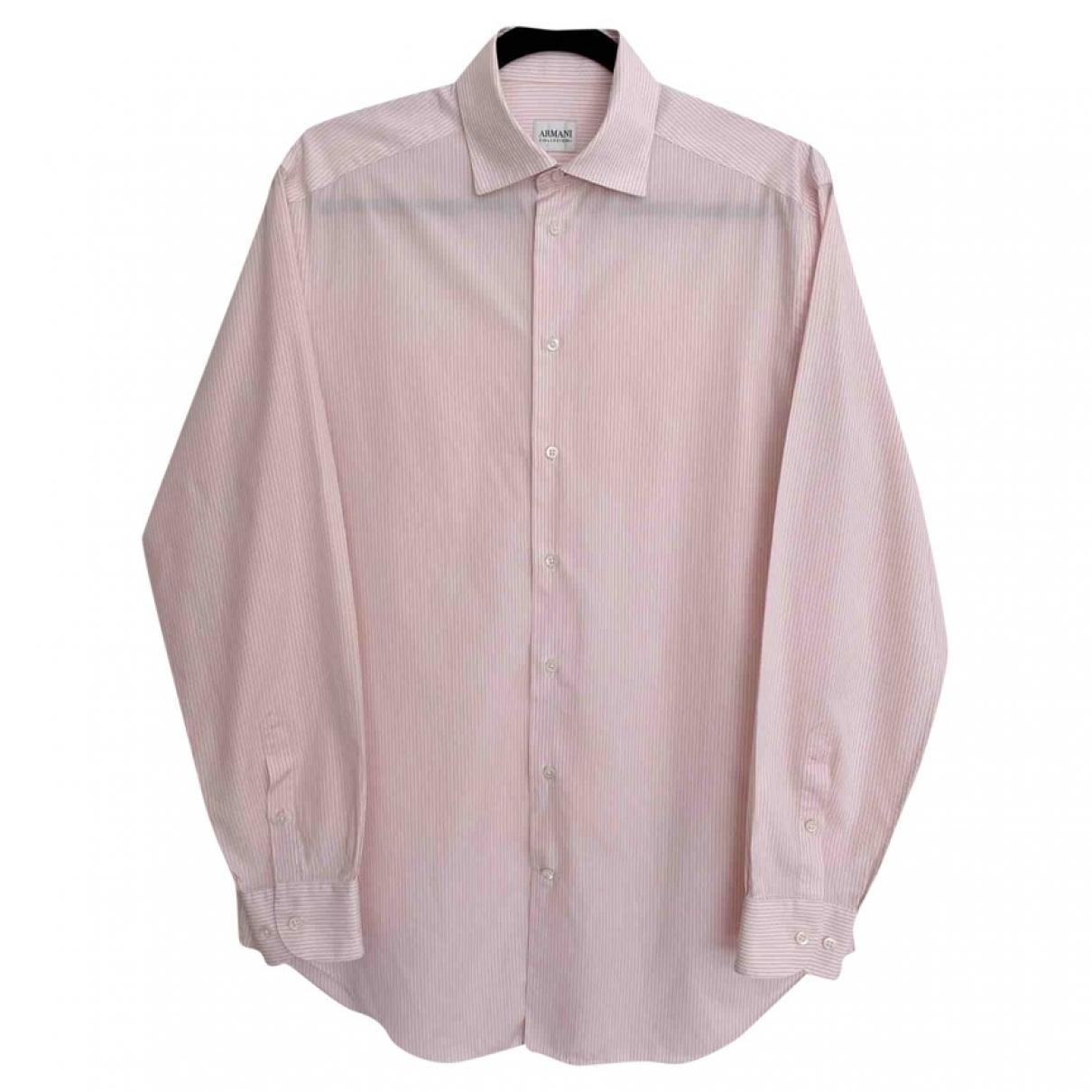 Armani Collezioni - Chemises   pour homme en coton - rose