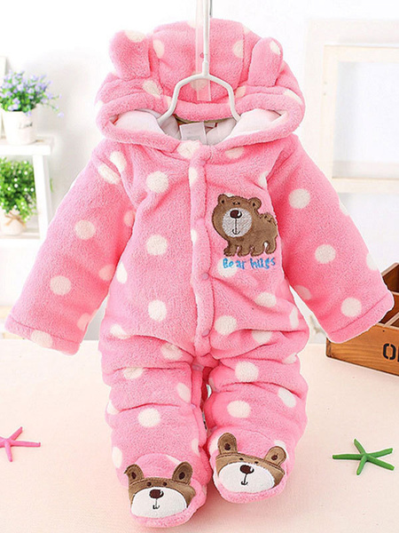 Milanoo Toddler Kigurumi Onesie Pajamas Flannel Jumpsuit Bear Costume