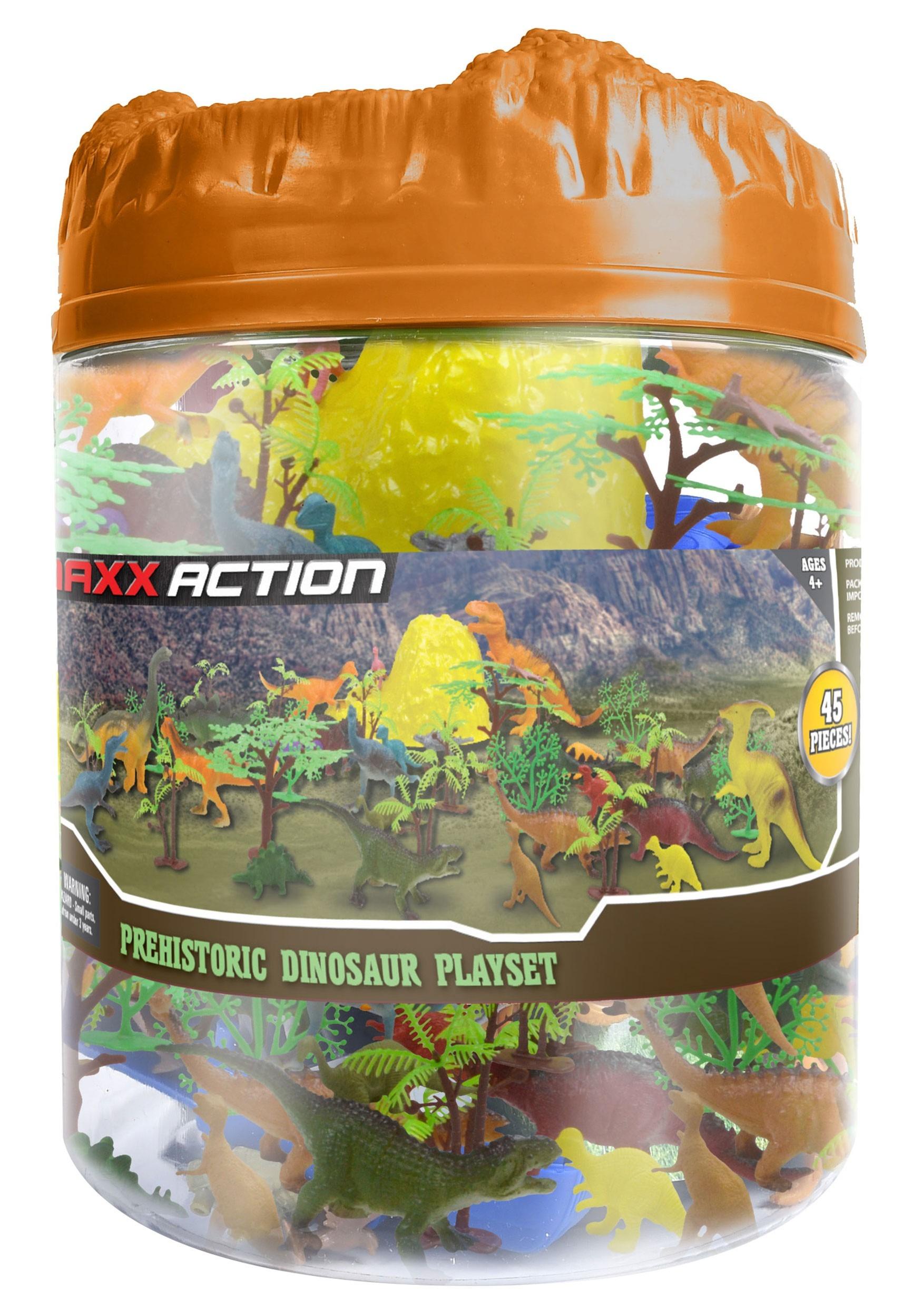 Prehistoric Dinosaur Playset Bucket