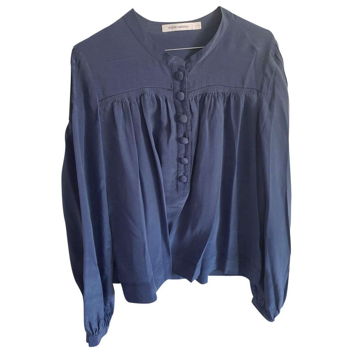 Virginie Castaway \N Blue Silk  top for Women 38 FR