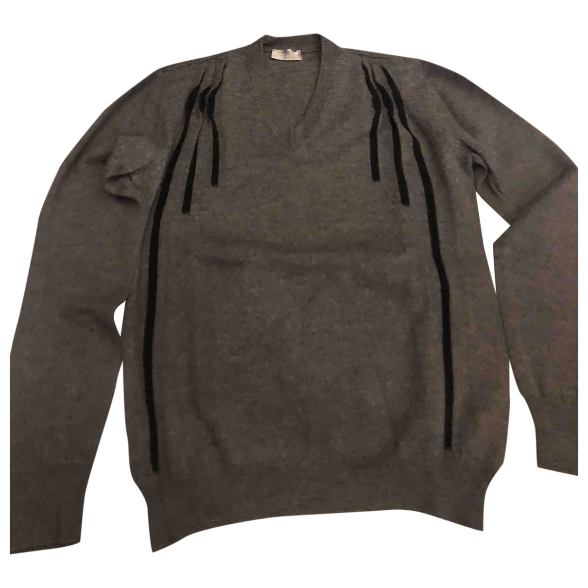 Dior Homme \N Pullover.Westen.Sweatshirts  in  Anthrazit Wolle