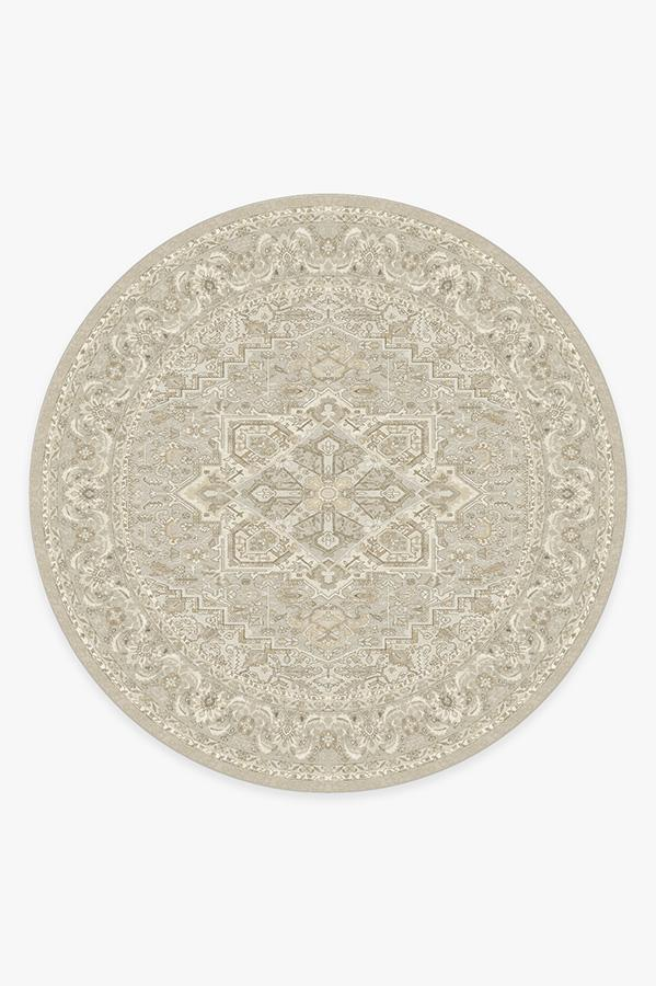 Washable Rug Cover | Hendesi Heriz Cream Rug | Stain-Resistant | Ruggable | 8 Round
