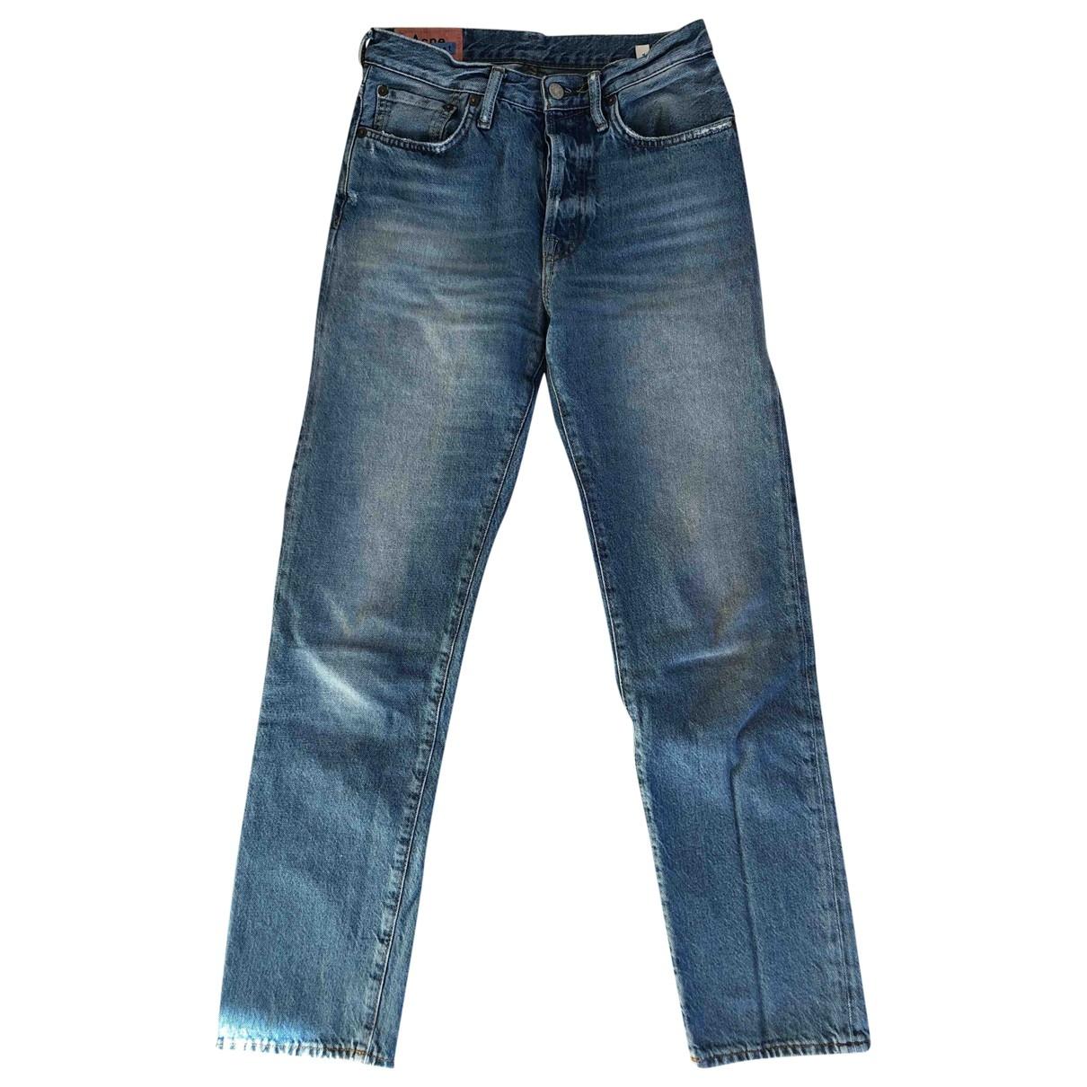 Acne Studios \N Blue Cotton Jeans for Women 34 FR