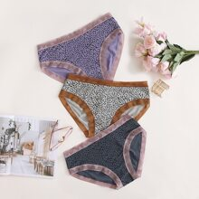 3pack Plus Allover Graphic Panty Set