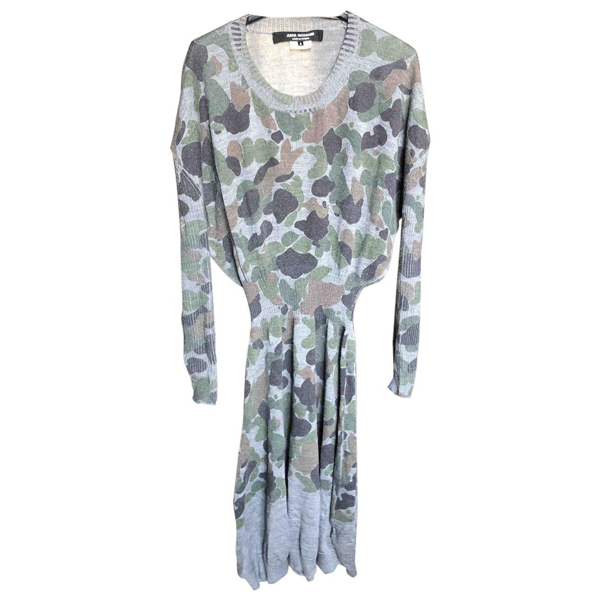 Junya Watanabe \N Kleid in  Grau Wolle