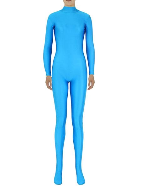 Milanoo Disfraz Halloween Cielo azul Zentai Slim ajuste traje de Spandex para mujeres Halloween