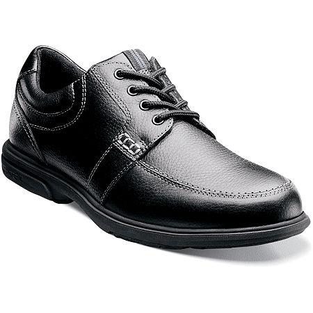 Nunn Bush Mens Carlin Moc Toe Casual Oxford Shoes, 11 1/2 Medium, Black