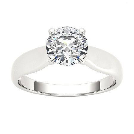 Womens 3/4 CT. T.W. Round White Diamond 14K Gold Solitaire Ring, 8 1/2 , No Color Family