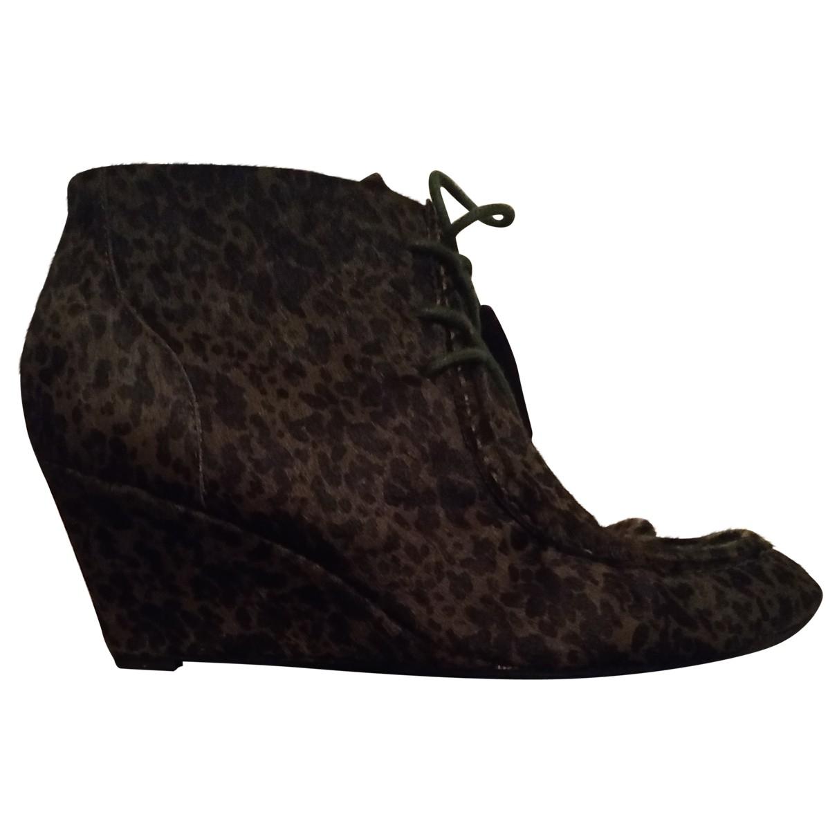 Rebecca Minkoff - Boots   pour femme en veau facon poulain - vert