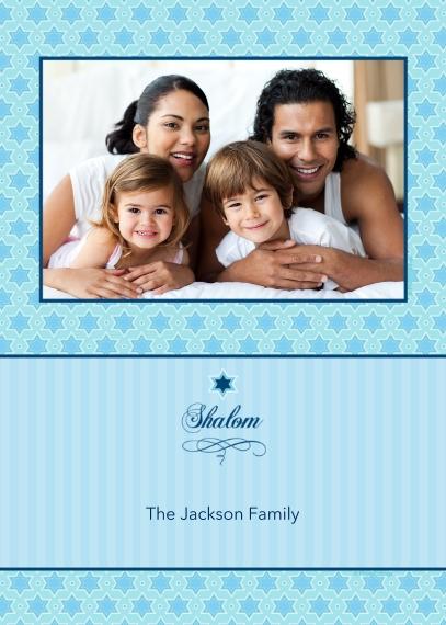 Hanukkah Photo Cards 5x7 Cards, Premium Cardstock 120lb, Card & Stationery -Shalom