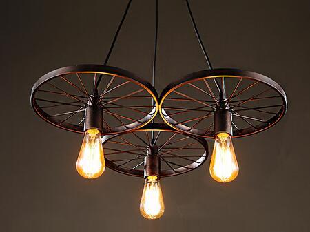 246146 3-light Antique Bronze 20-inch Edison Chandelier in