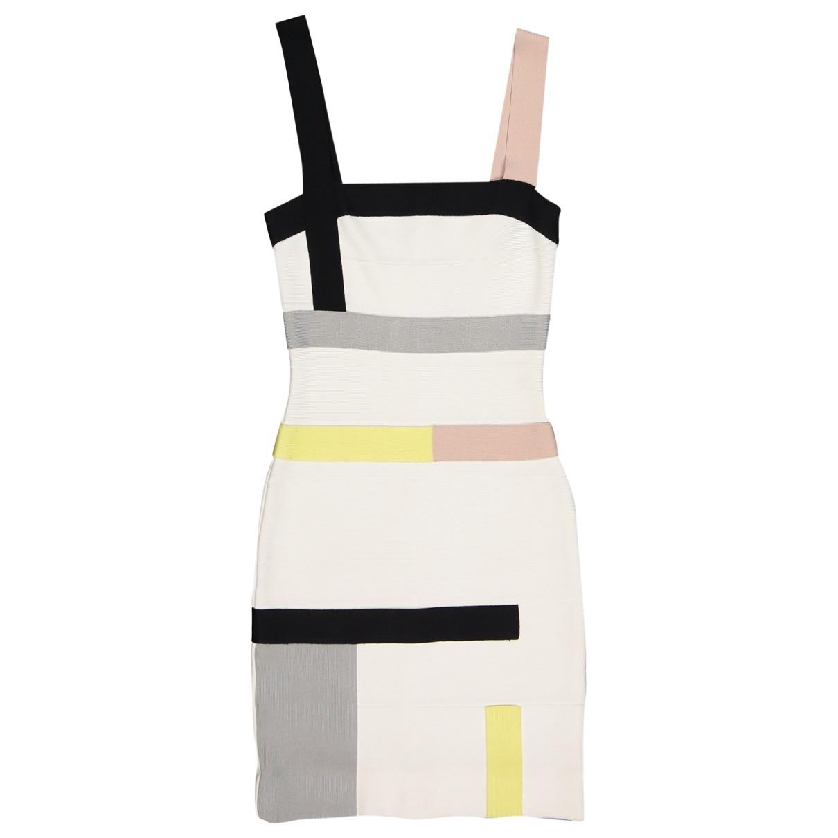 Herve Leger \N White dress for Women XXS International
