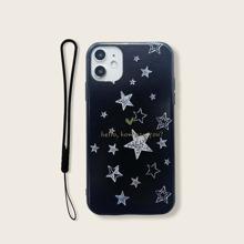 iPhone Schutzhuelle mit Stern Muster & Tragegurt