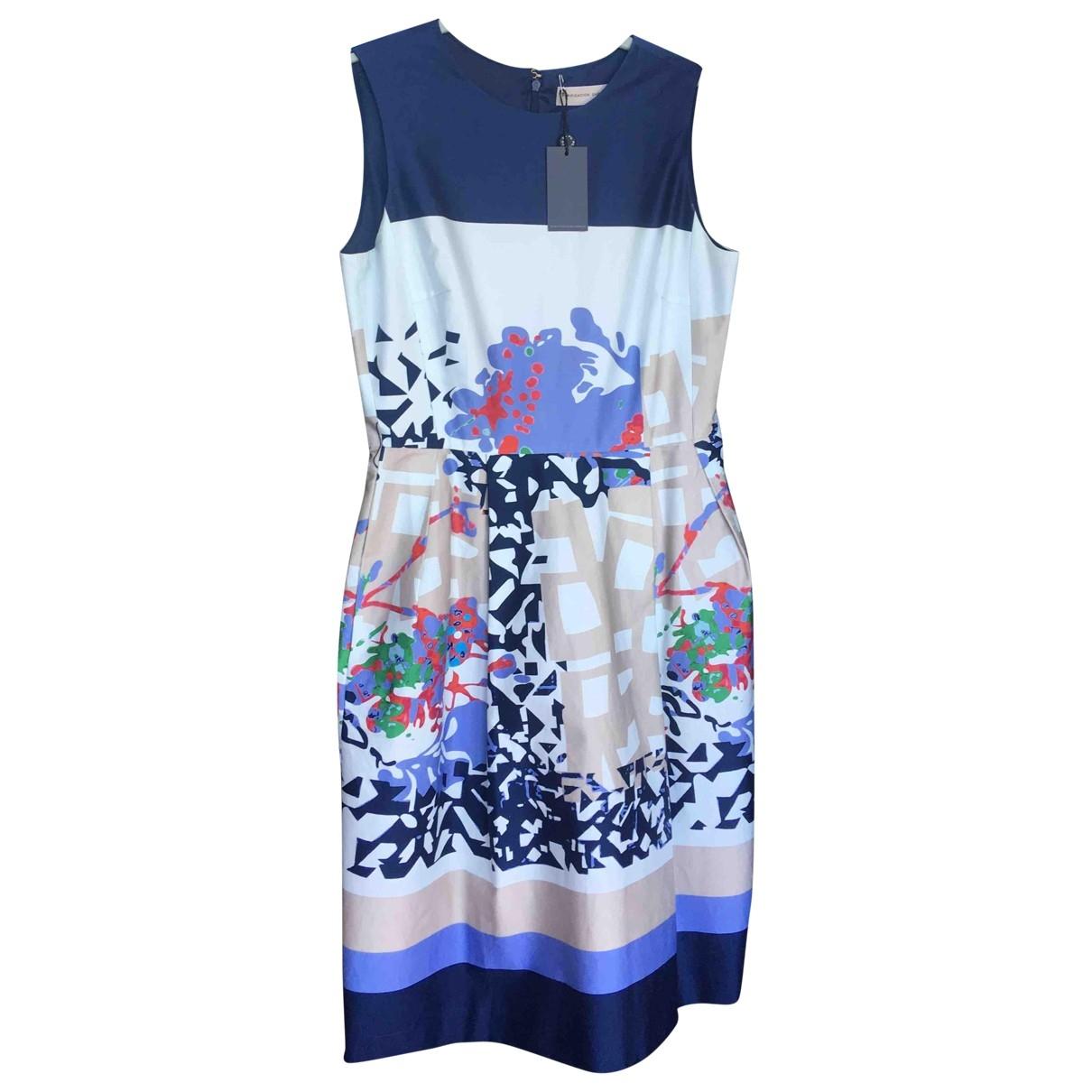 - Robe   pour femme en coton - elasthane - bleu