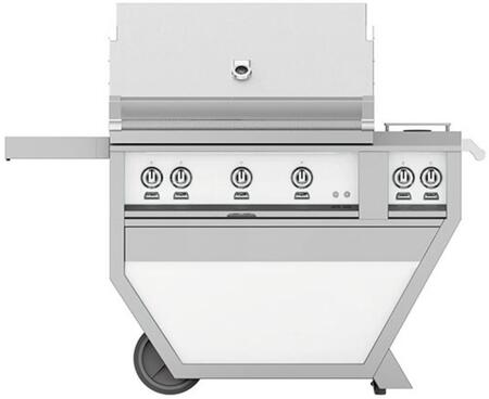GMBR36CX2-LP-WH 36 Deluxe Freestanding Liquid Propane Grill with up to 119 000 BTUs  647 sq. inches Grilling Surface Size  Double Side Burner