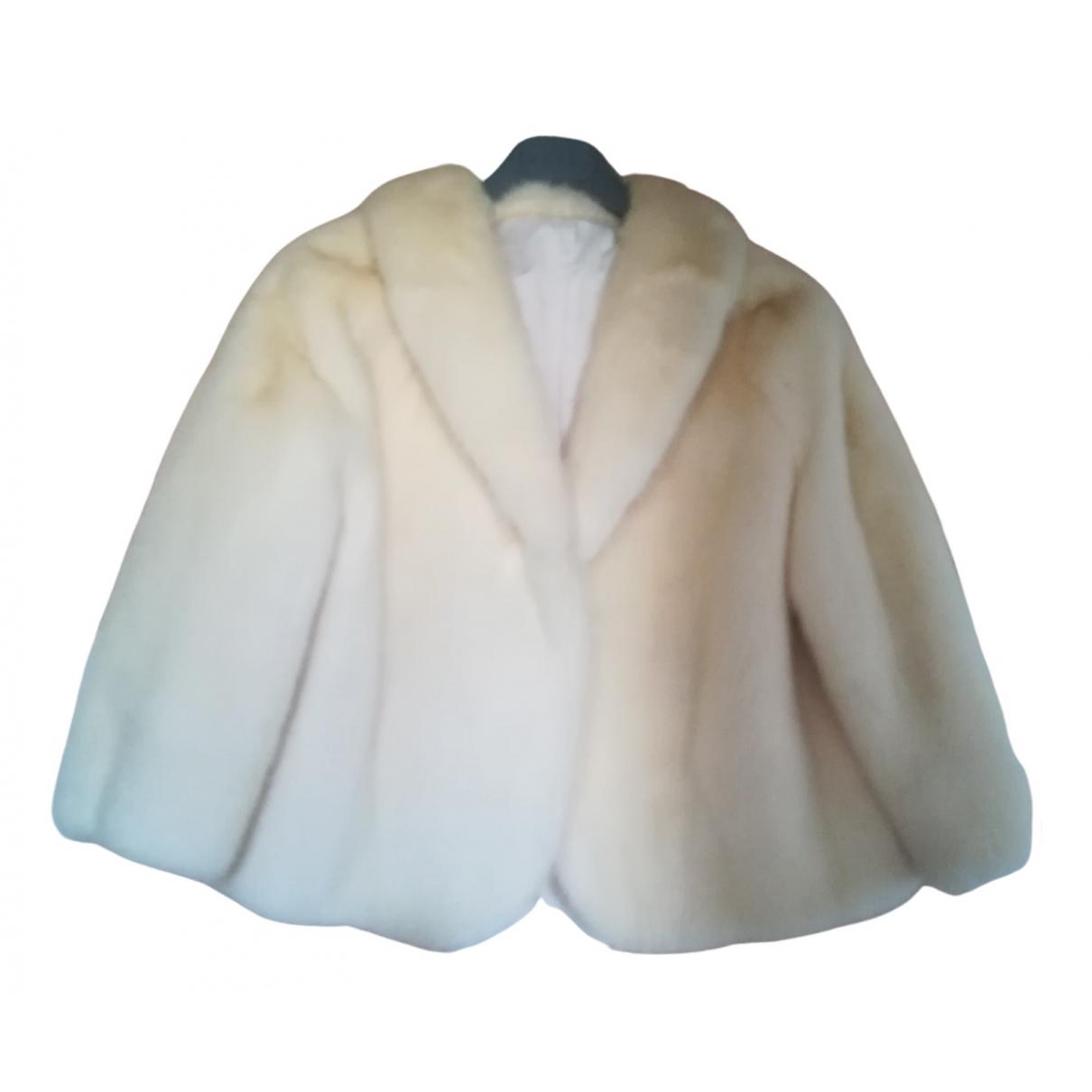 - Veste   pour femme en vison - blanc