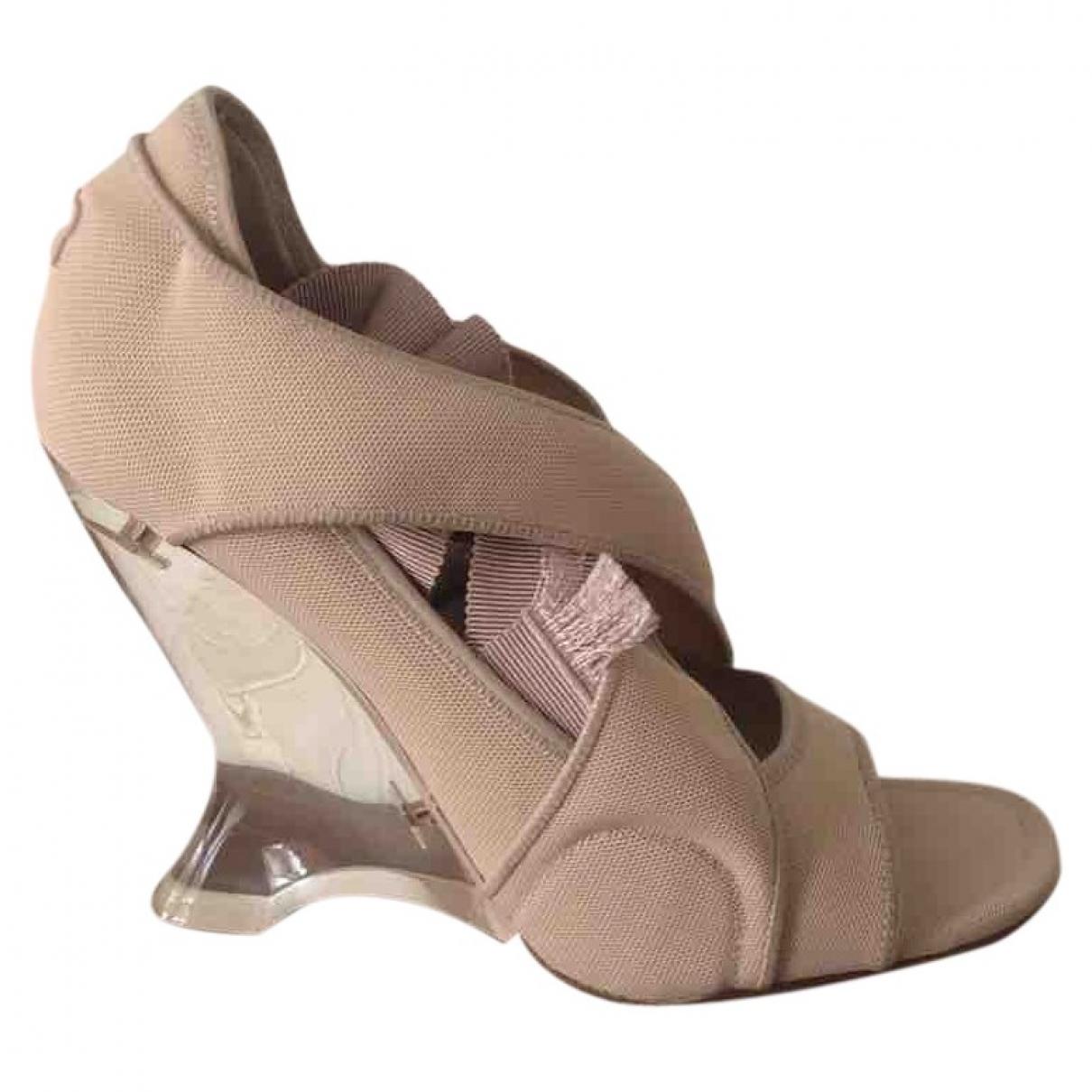 Dior - Sandales Etoile pour femme en toile - beige