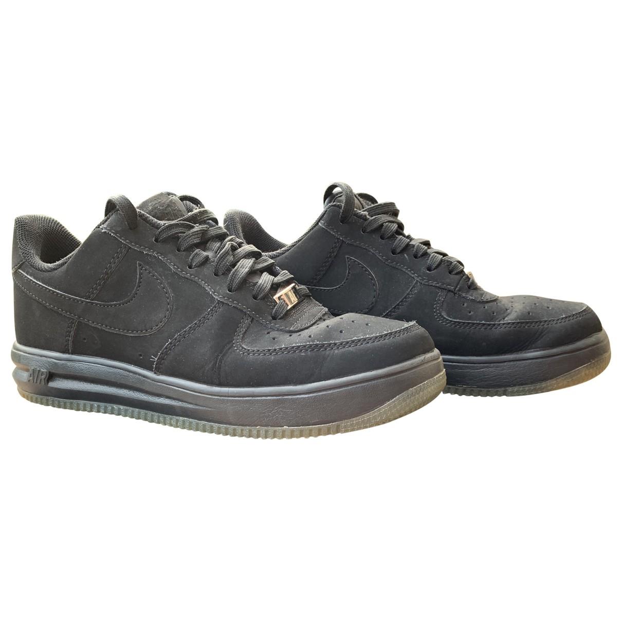 Nike - Baskets Lunar Force 1  pour homme en suede - noir