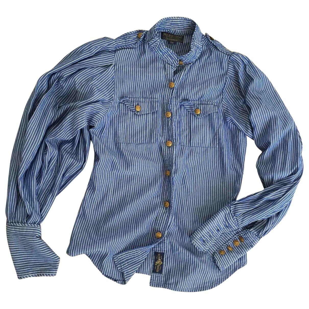 Polo Ralph Lauren - Top   pour femme en coton - bleu