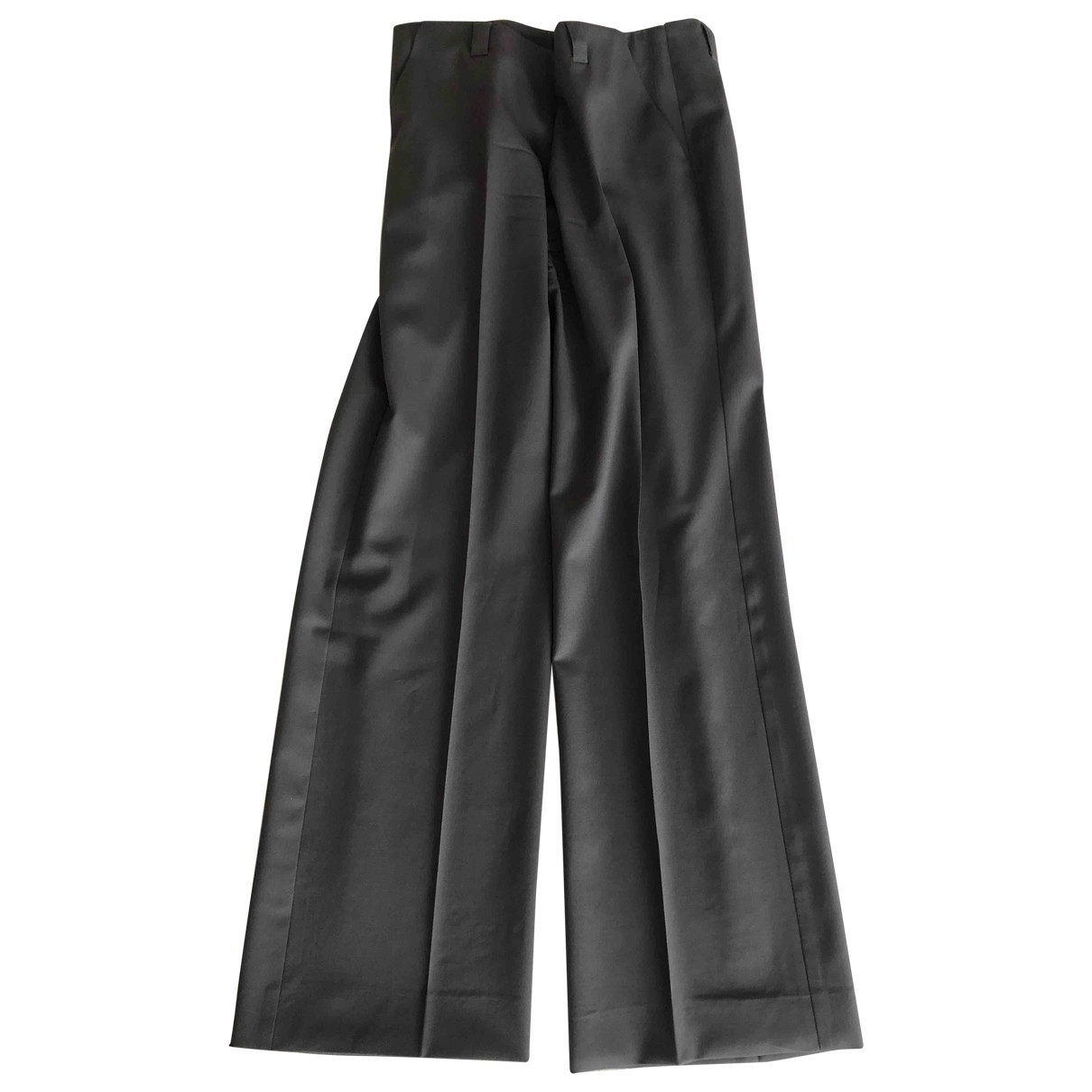 Emporio Armani \N Grey Wool Trousers for Women 42 IT
