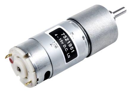 RS PRO DC Motor, 11 W, 4.5 → 15 V, 206 gcm, 5216 rpm, 6mm Shaft Diameter
