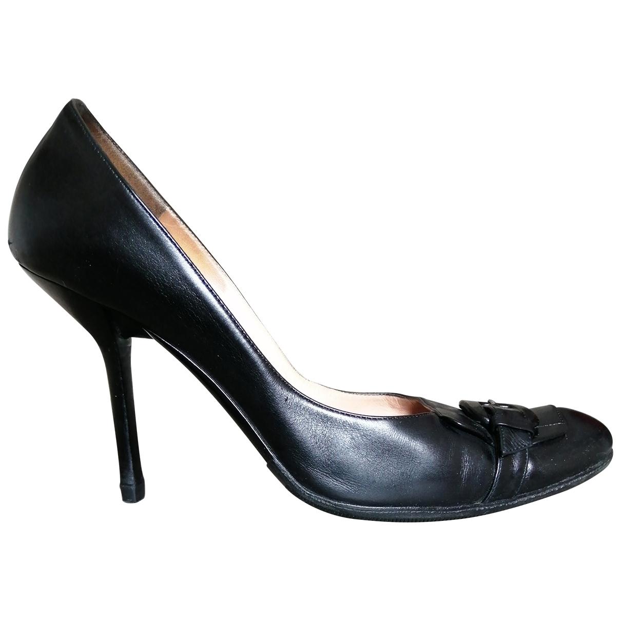 Pollini - Escarpins   pour femme en cuir - noir