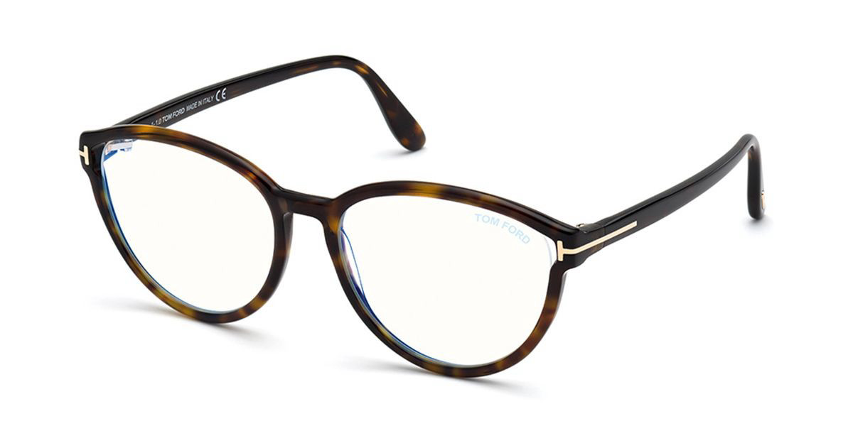 Tom Ford FT5706-B Blue-Light Block 052 Women's Glasses Tortoise Size 55 - Free Lenses - HSA/FSA Insurance - Blue Light Block Available