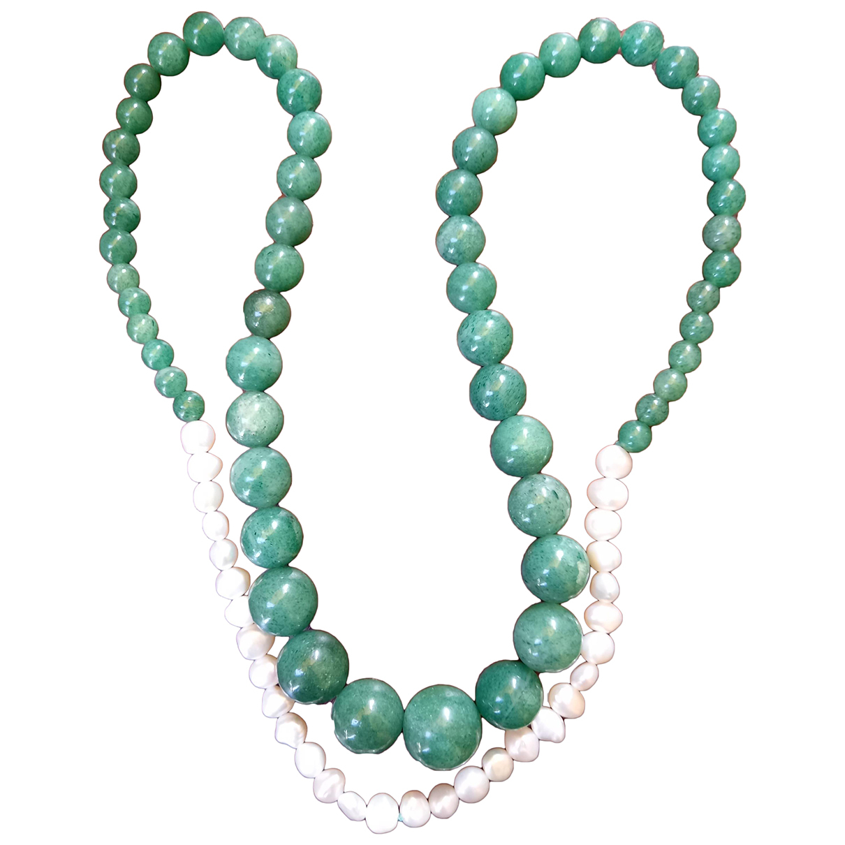 Non Signe / Unsigned \N Kette in Jade